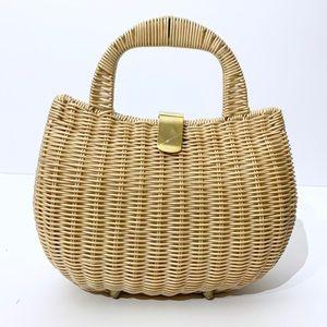 Vintage Wicker Rattan Handbag